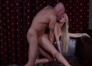 Pouty blonde fucked sideways by her brother