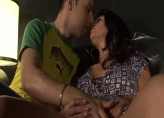 Tanned Brunette Mommy Banging Her Dirty Son