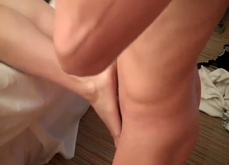 Teen with cute feet loves incestuous fucking