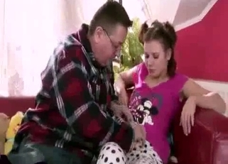 Teen gets punished by her panty-sniffing creep of a father