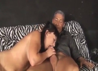 Tanned brunette MILF fucking her brother