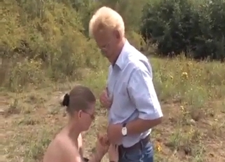 Pale-looking blonde gets annihilated by her dad