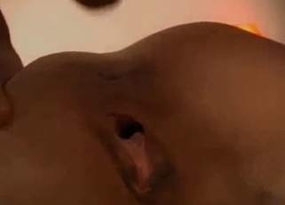 Masked blonde chokes on that huge dick