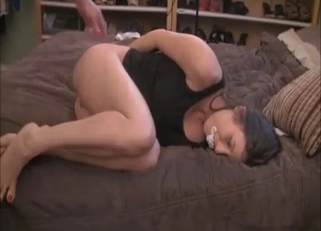 Brunette takes dad's huge cock, she just has to