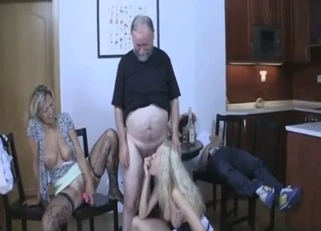 Stockings-clad beauty licked by her own daughter