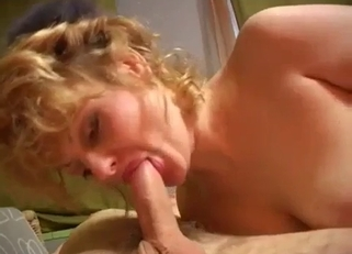 Leopard-y get-up blonde seducing her hung son