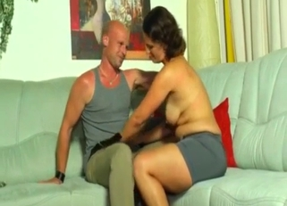 Tanned brunette and her big-dicked father