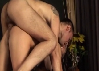 Doggy style pounding for a kinky brunette bombshell